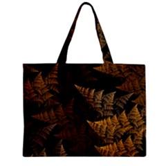 Fractal Fern Zipper Mini Tote Bag by Simbadda