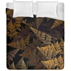 Fractal Fern Duvet Cover Double Side (california King Size) by Simbadda