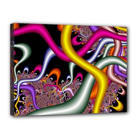 Fractal Roots Canvas 16  X 12  by Simbadda