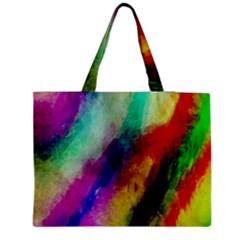 Abstract Colorful Paint Splats Medium Tote Bag by Simbadda
