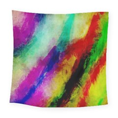 Abstract Colorful Paint Splats Square Tapestry (large)