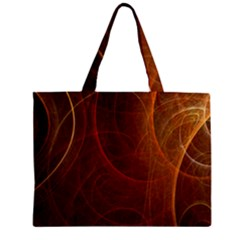 Fractal Color Lines Zipper Mini Tote Bag by Simbadda
