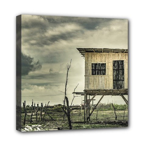 Traditional Cane House At Guayas District Ecuador Mini Canvas 8  X 8  by dflcprints