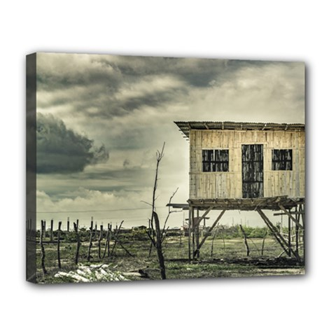 Traditional Cane House At Guayas District Ecuador Canvas 14  X 11  by dflcprints