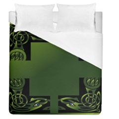 Celtic Corners Duvet Cover (queen Size) by Simbadda