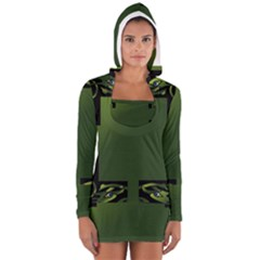 Celtic Corners Women s Long Sleeve Hooded T-shirt by Simbadda