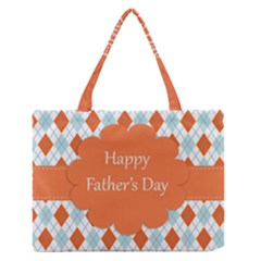 Happy Father Day  Medium Zipper Tote Bag by Simbadda
