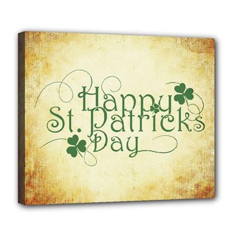Irish St Patrick S Day Ireland Deluxe Canvas 24  X 20   by Simbadda