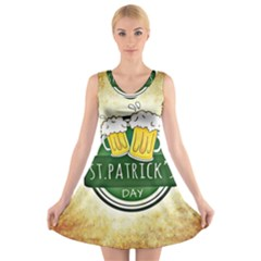 Irish St Patrick S Day Ireland Beer V Neck Sleeveless Skater Dress