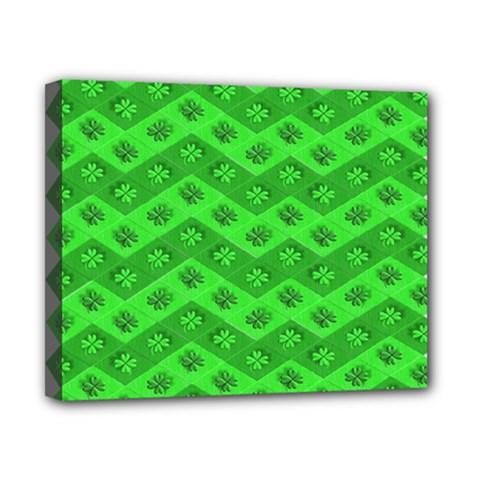 Shamrocks 3d Fabric 4 Leaf Clover Canvas 10  X 8  by Simbadda