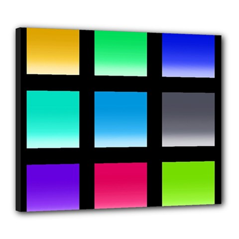Colorful Background Squares Canvas 24  X 20  by Simbadda