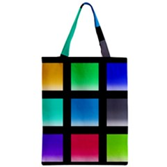 Colorful Background Squares Zipper Classic Tote Bag by Simbadda
