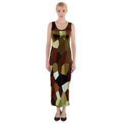 Crystallize Background Fitted Maxi Dress by Simbadda