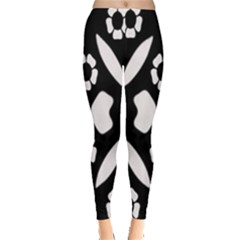 Abstract Background Pattern Leggings