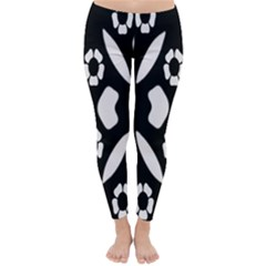 Abstract Background Pattern Classic Winter Leggings by Simbadda