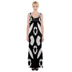 Abstract Background Pattern Maxi Thigh Split Dress by Simbadda