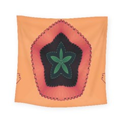 Fractal Flower Square Tapestry (small) by Simbadda