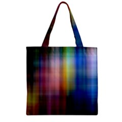 Colorful Abstract Background Zipper Grocery Tote Bag by Simbadda