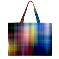 Colorful Abstract Background Zipper Large Tote Bag by Simbadda