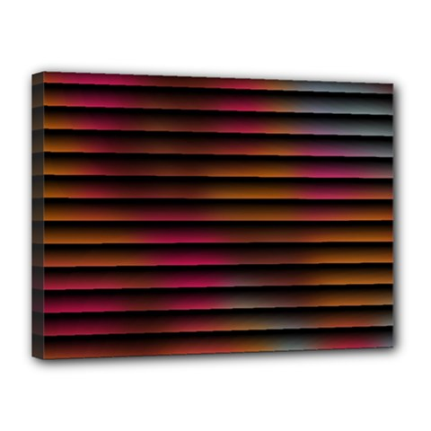 Colorful Venetian Blinds Effect Canvas 16  X 12  by Simbadda