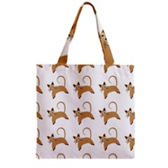 Cute Cats Seamless Wallpaper Background Pattern Grocery Tote Bag by Simbadda