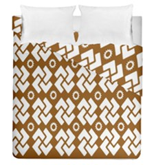 Art Abstract Background Pattern Duvet Cover Double Side (Queen Size) by Simbadda