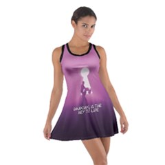 Dancing Is The Key To Life Cotton Racerback Dress by LetsDanceHaveFun