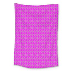 Clovers On Pink Large Tapestry by PhotoNOLA