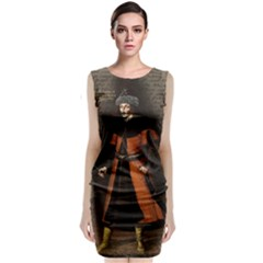Count Vlad Dracula Classic Sleeveless Midi Dress by Valentinaart