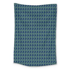 Clovers On Dark Blue Large Tapestry by PhotoNOLA