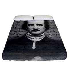 Edgar Allan Poe  Fitted Sheet (california King Size) by Valentinaart