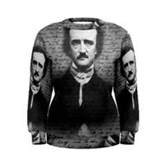 Edgar Allan Poe  Women s Sweatshirt by Valentinaart