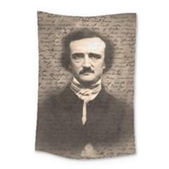 Edgar Allan Poe  Small Tapestry by Valentinaart