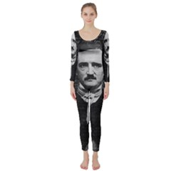 Edgar Allan Poe  Long Sleeve Catsuit by Valentinaart
