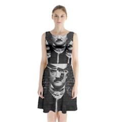 Edgar Allan Poe  Sleeveless Chiffon Waist Tie Dress