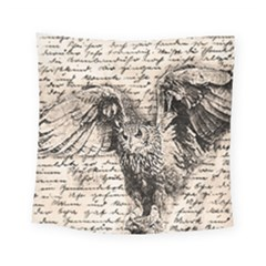 Vintage Owl Square Tapestry (small) by Valentinaart
