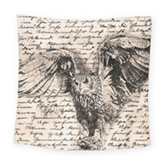 Vintage Owl Square Tapestry (large) by Valentinaart