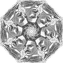 Nikola Tesla Folding Umbrellas by Valentinaart