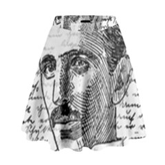 Nikola Tesla High Waist Skirt by Valentinaart