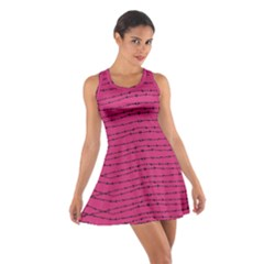 Hot Pink Barbed Wire Cotton Racerback Dress by ChihuahuaShower