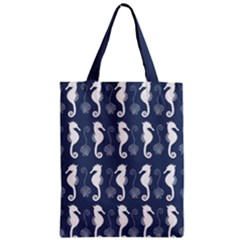 Seahorse And Shell Pattern Classic Tote Bag by Simbadda