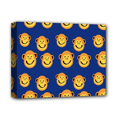 Monkeys Seamless Pattern Deluxe Canvas 14  X 11  by Simbadda