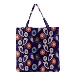 Cute Birds Pattern Grocery Tote Bag by Simbadda