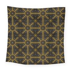 Seamless Symmetry Pattern Square Tapestry (large) by Simbadda