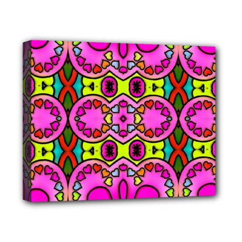 Love Hearths Colourful Abstract Background Design Canvas 10  X 8  by Simbadda