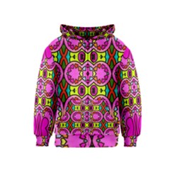 Love Hearths Colourful Abstract Background Design Kids  Zipper Hoodie by Simbadda