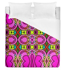Love Hearths Colourful Abstract Background Design Duvet Cover (queen Size) by Simbadda