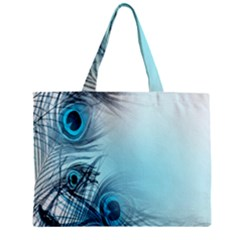 Feathery Background Zipper Mini Tote Bag by Simbadda