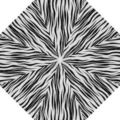 Black White Seamless Fur Pattern Hook Handle Umbrellas (Medium) by Simbadda