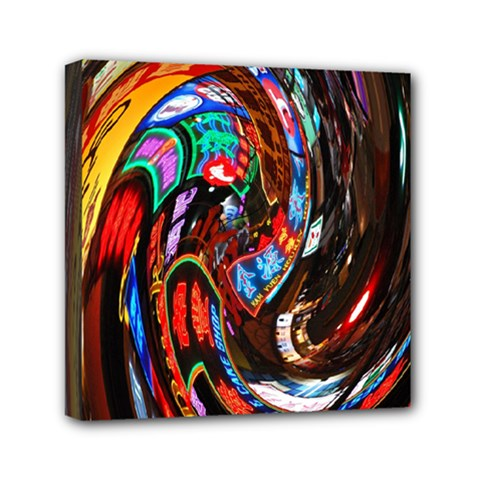 Abstract Chinese Inspired Background Mini Canvas 6  X 6  by Simbadda
